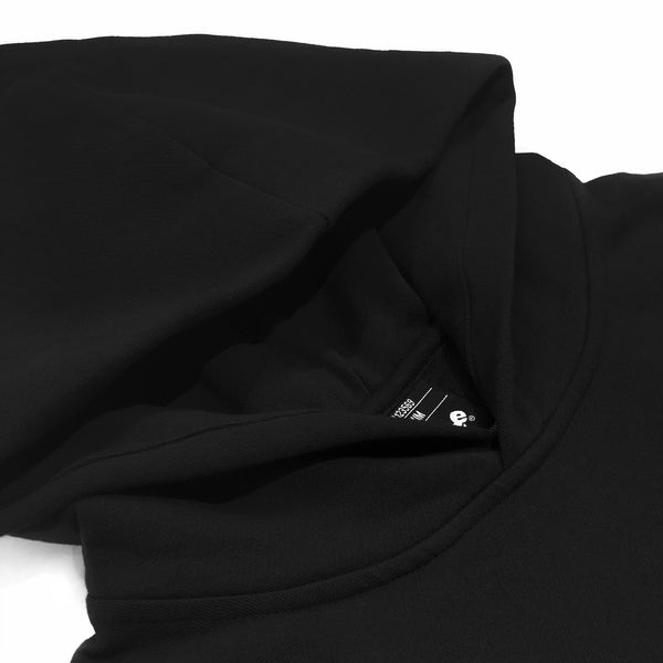 Doberman Drop Shoulder Black Pullover Hoodie