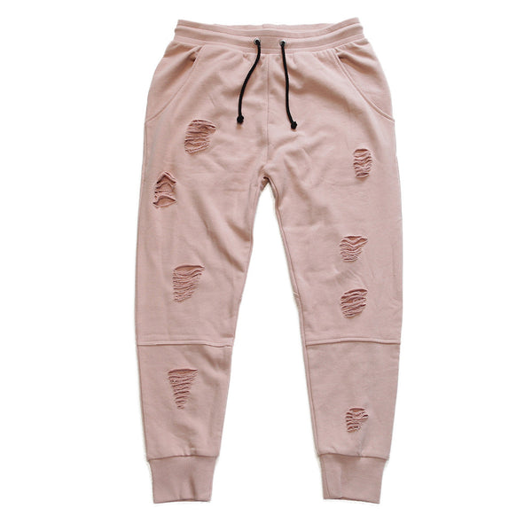Long Live the Youth Distressed Rose Joggers