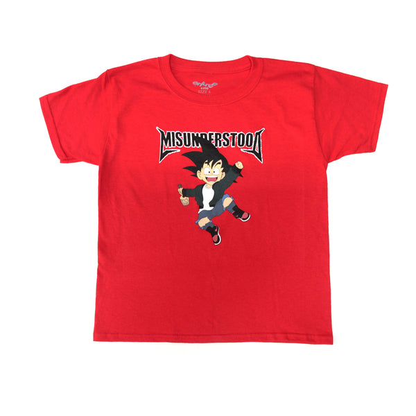 Entree Kids Size Goku Red Tee - Low Stock