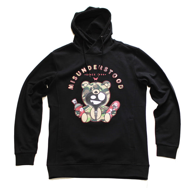 Misunderstood Camo Teddy Black Custom French Terry Hoodie