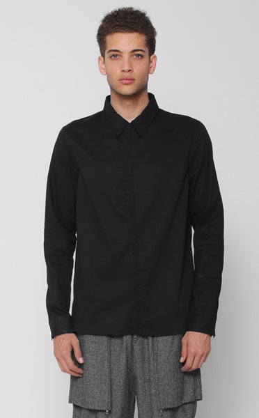 Unknown Alacrity Designer Button Down Shirt In Black