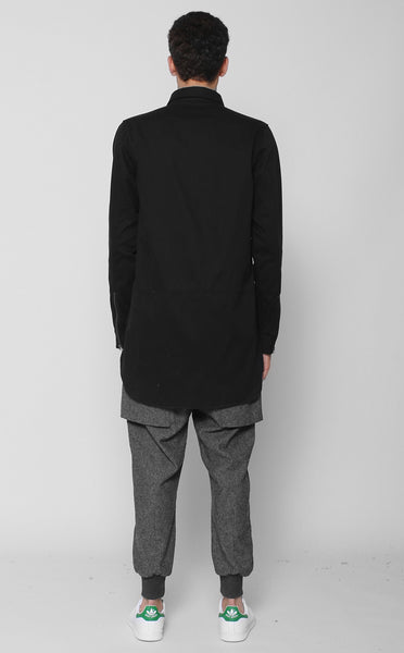 Unknown Alacrity Designer Button Down Shirt In Black - 3 Left!