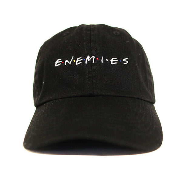 Enemies Dad Hat In Black - Low Stock