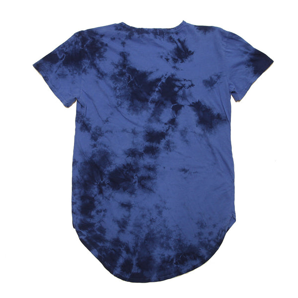 Lord Frieza Blue Tie Dye Curved Hem Tee - Limited - No Restock