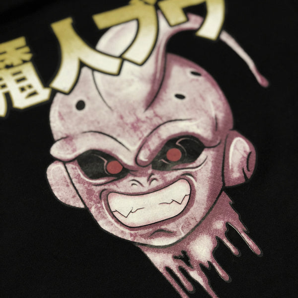 Kid Buu Drop Shoulder Black Pullover Hoodie *Restocked*