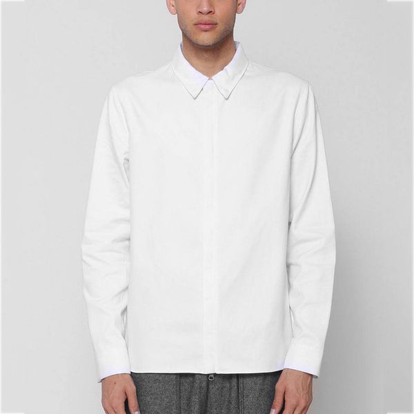 Unknown Alacrity Designer Button Down Shirt In White - 1 Left!
