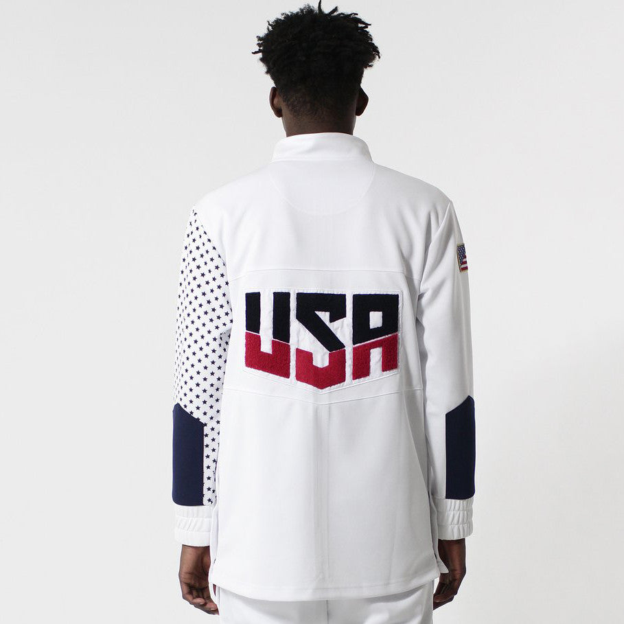 Entree LS USA Olympic Warm Up White Track Jacket - Last One