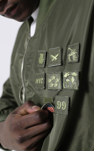 Entree LS Militeddy MA-1 Olive Flight Bomber Jacket