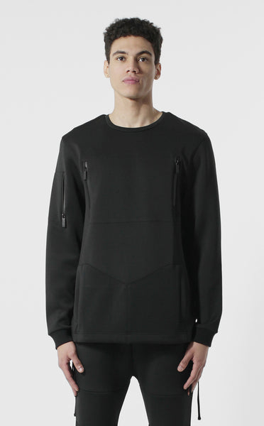 Unknown Zealot Neoprene Black Crewneck