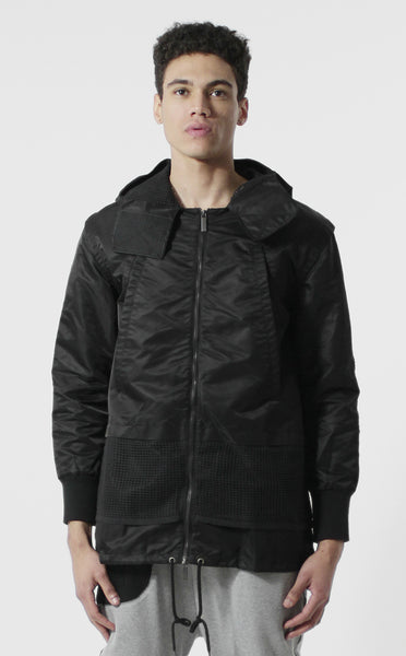 Unknown Static Military Contrasted Windbreaker Parka Jacket