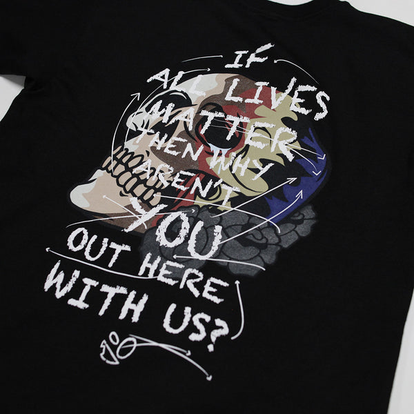 IF ALL LIVES MATTER Black Tee