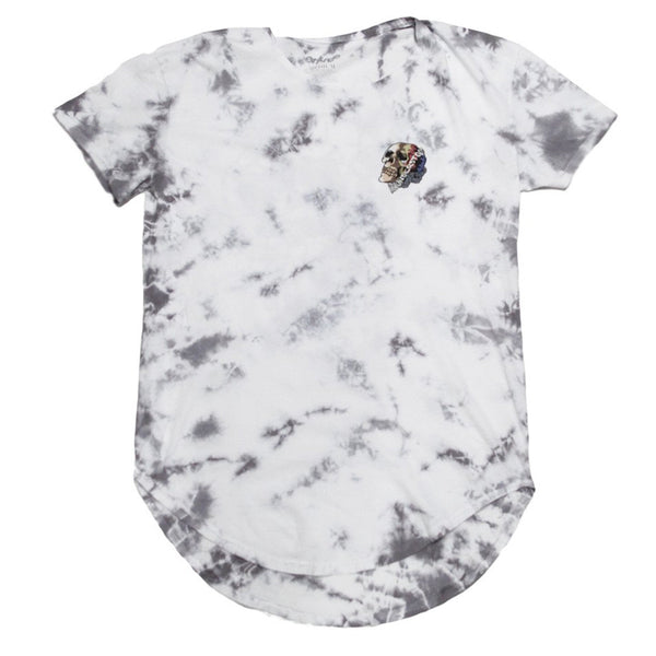 IF ALL LIVES MATTER White Tie Dye Curved Hem Tee