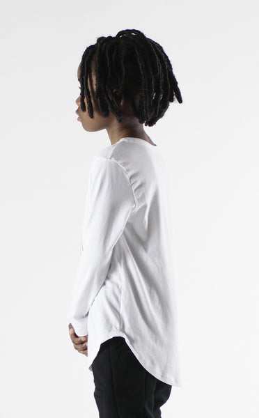 Entree Kids Heir To The Throne White Curved Hem Long Sleeve Tee