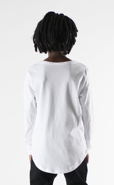 Entree Kids Netflix & Chill White Curved Hem Long Sleeve Tee - 4 Left!