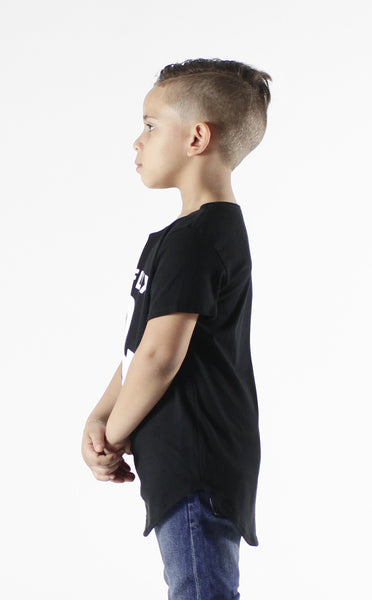Entree Kids Netflix & Chill Black Curved Hem Tee