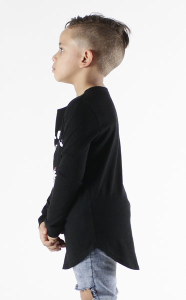 Entree Kids Astronaut Bear Curved Hem Long Sleeve
