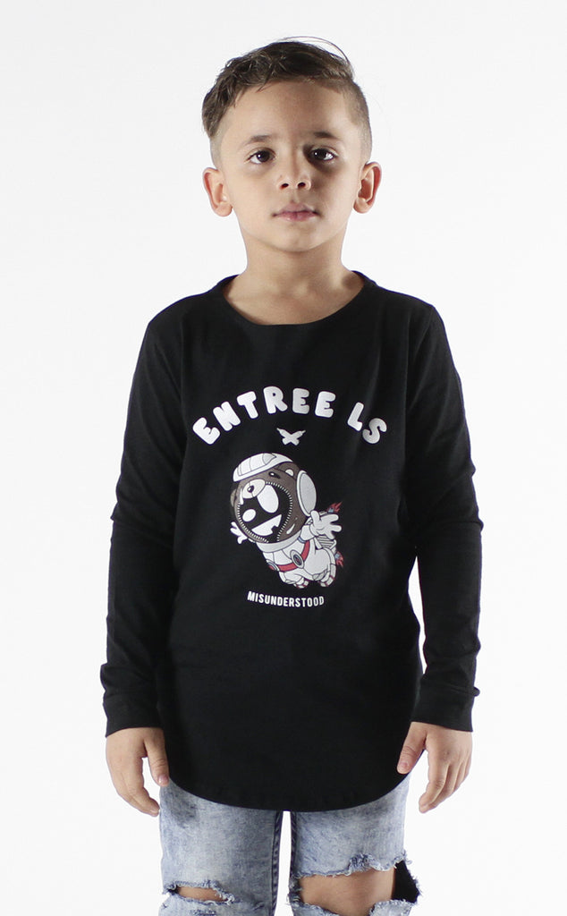 Entree Kids Astronaut Bear Curved Hem Long Sleeve - 2 Left!