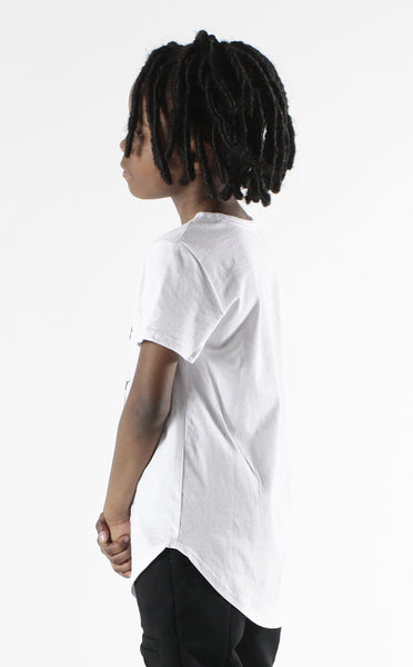 Entree Kids Astronaut Bear Curved Hem Tee In White - Low Stock