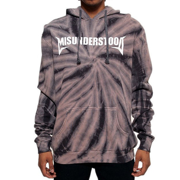 Misunderstood Core Vintage Black Tie Dye Hoodie - Online Only - 1 Left!