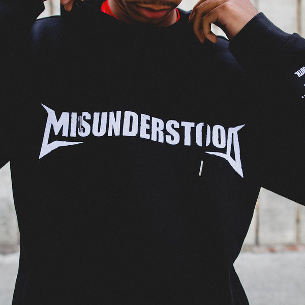 Misunderstood Core Cut And Sewn Black French Terry Hoodie