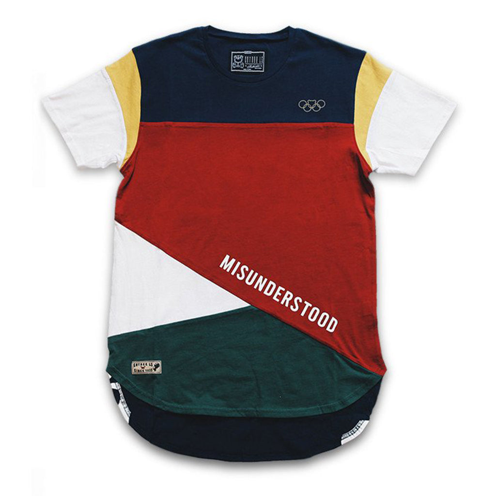 Misunderstood Olympic Color Block Panel Tee