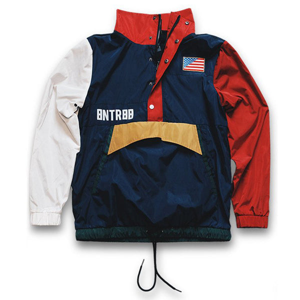 Misunderstood USA Windbreaker Pullover Track Jacket