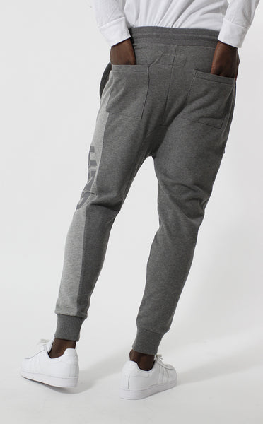 Entree LS Two Tone Gray Paneled French Terry USA Jogger