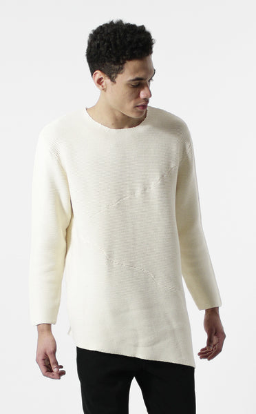 Unknown Misanthrope Asymmetrical Wide Hem Knitted Designer Sweater - 3 Left!