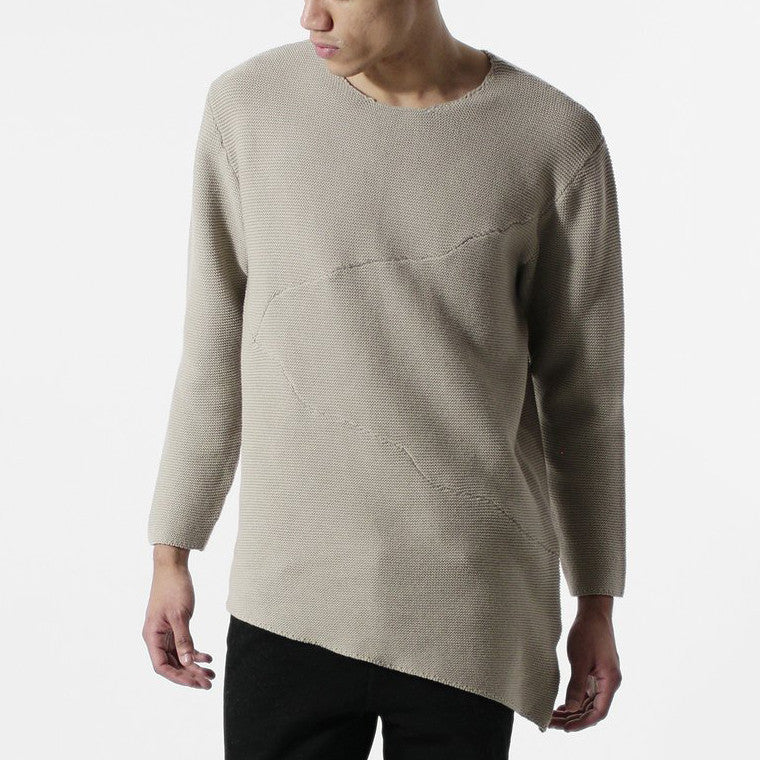 Unknown Misanthrope Asymmetrical Wide Hem Knitted Designer Sweater