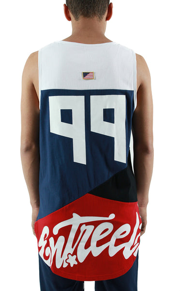Entree LS USA Color Block Cut and Sewn Tanks