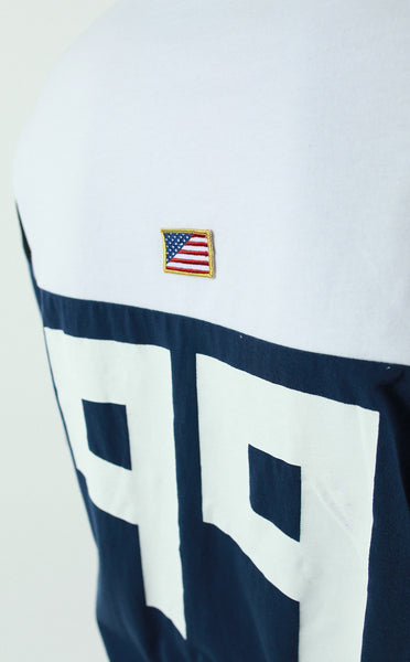 Entree LS USA Color Block Cut And Sewn Panel Tee