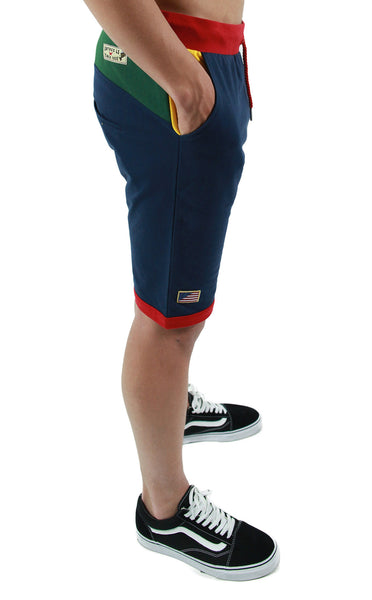 Entree LS Olympic Color Block Light French Terry Shorts - Only One Left!