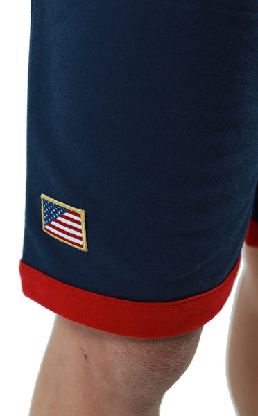Entree LS Olympic Color Block Light French Terry Shorts