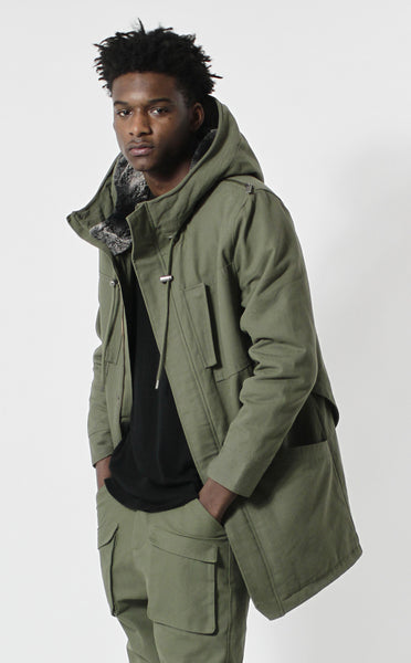 Unknown Petrichor Olive Parka Jacket