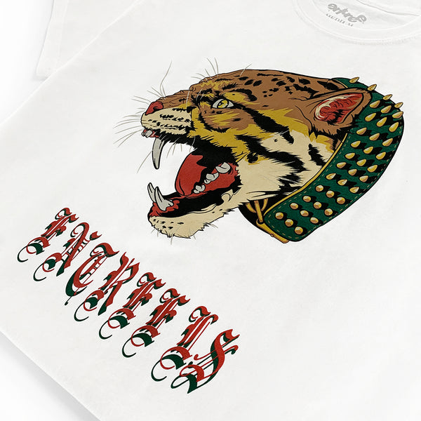 Sabertooth White Tee