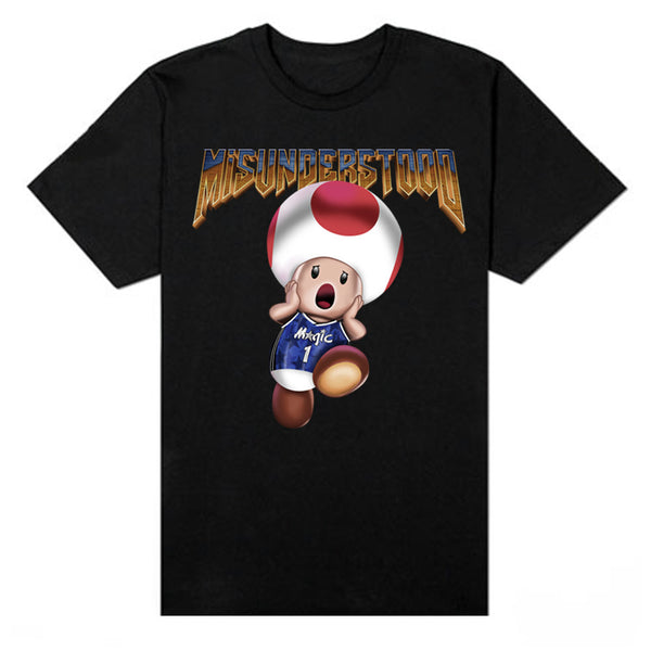 Magic Mushroom Doom Toad Black Tee