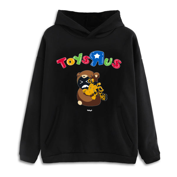 Toys R Us Forever Drop Shoulder Black Pullover Hoodie