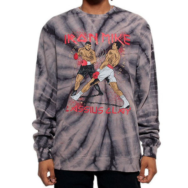 Tyson VS Ali Custom Tie Dye Graphic Sweatshirt - Online Only - 4 Left!