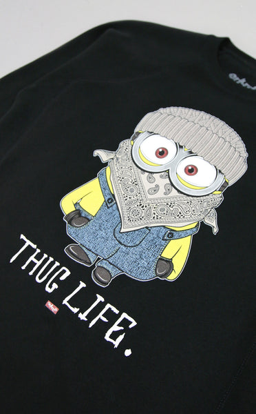 Womens Thug Life Minion Black Sweatshirt - Just Restocked