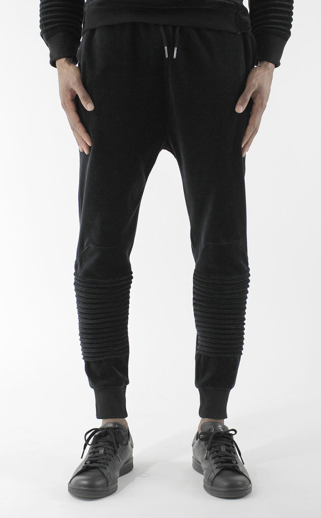 Unknown Harbinger Black Velour Designer Jogger