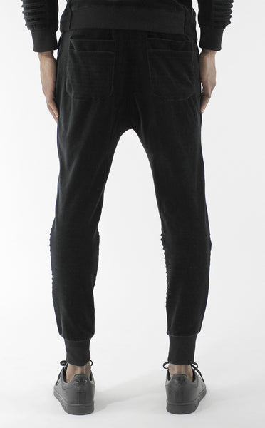 Unknown Harbinger Black Velour Designer Jogger - 4 Left