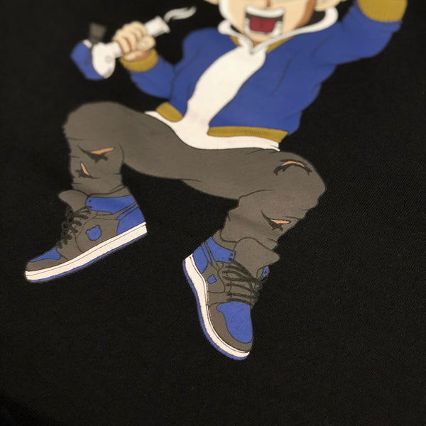 Misunderstood Vegeta Drop Shoulder Black Pullover Hoodie
