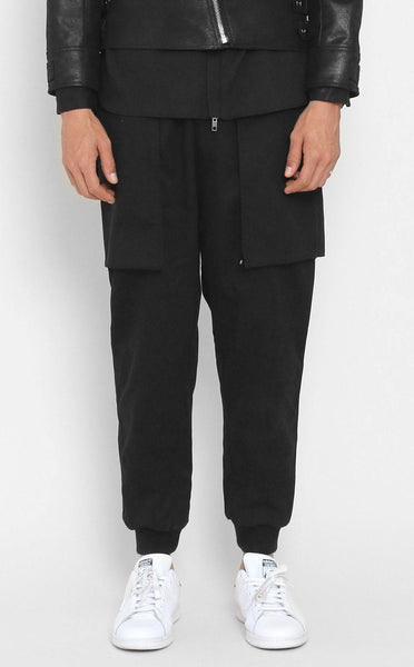 BOTTOMS - UNKNOWN BENEDICTION WOVEN Black Jogger