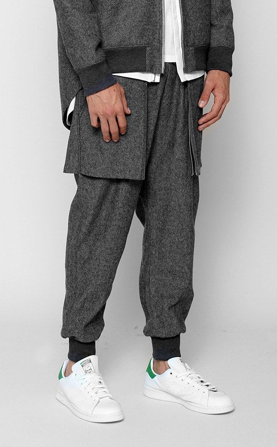 BOTTOMS - UNKNOWN BENEDICTION WOVEN Gray Jogger
