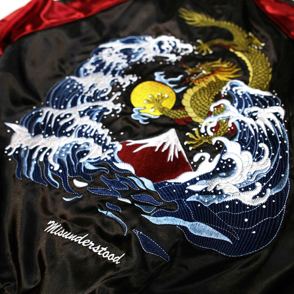 Misunderstood Bred Satin Embroidery Souvenir Jacket