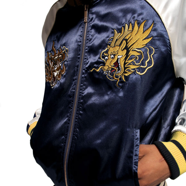 Misunderstood Midnight Satin Embroidery Souvenir Jacket