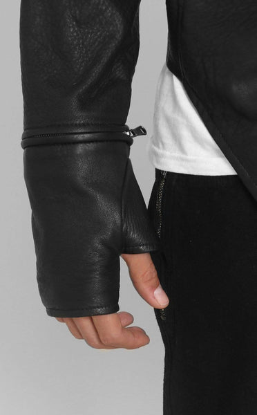OUTERWEAR - ENIGMA LEATHER JACKET