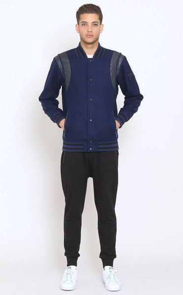 OUTERWEAR - Unknown Blue Wool Varsity Jacket