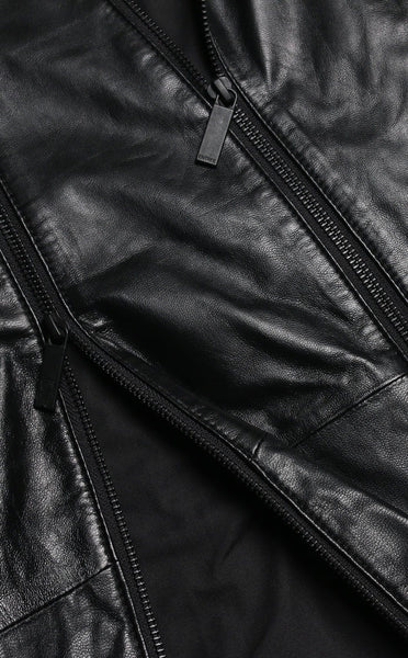 OUTERWEAR - Unknown Three Zip Sheep Skin Leather Jacket