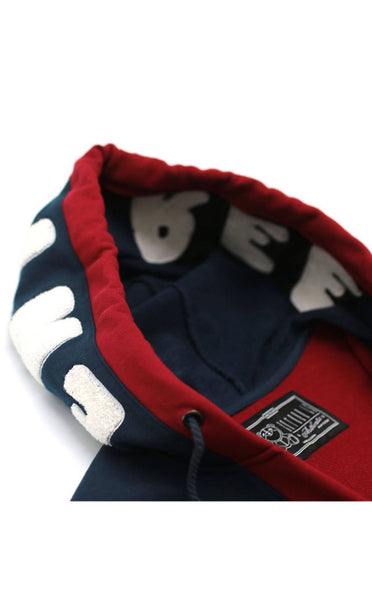 TOPS - MID-WEIGHT FRENCH TERRY OLYMPIC USA NAVY/RED HOODIE